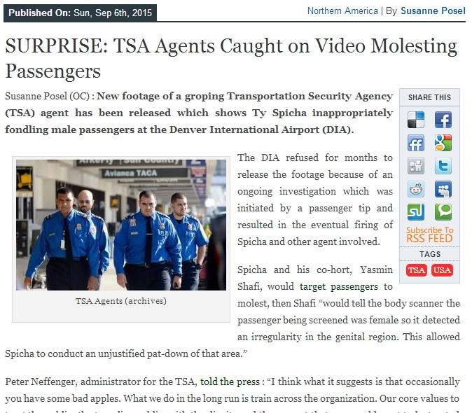 TSA Agents caught on video molesting passengers