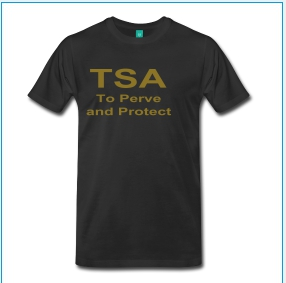 TSA, To Perve and Protect (gold metalic)